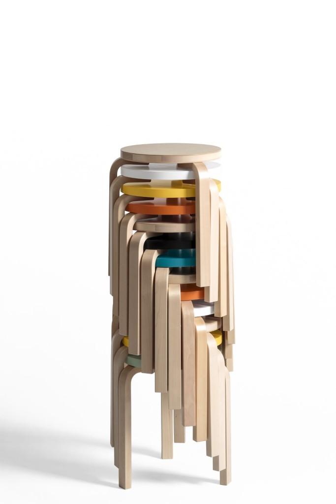 Scandinavian design Artek stool 60 stack
